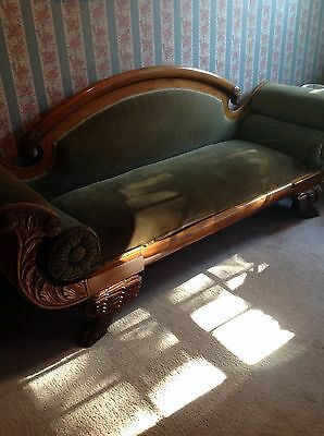 Antique Federal Lions Paw Couch 1820's- 1840's