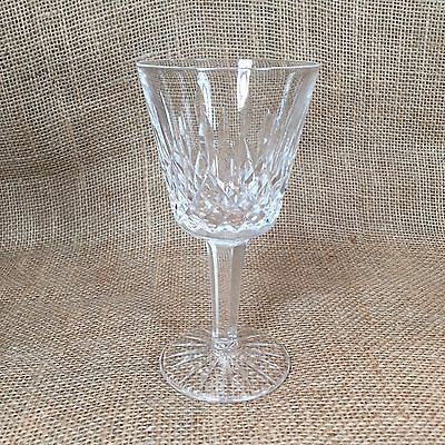 """Waterford Crystal Claret Wine Glass Lismore Pattern 5 7/8"""" From Ireland"""