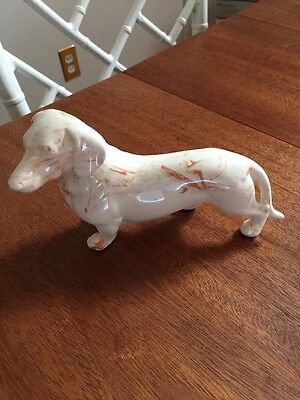 Tennessee Clay Art Pottery Dachshund Figurine Signed Max Marbled Collectible