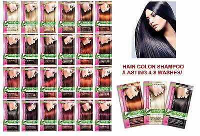 MARION Hair Color Shampoo SACHET 40ml ALOE KERATIN LASTS 4-8 WASHES NO AMMONIA