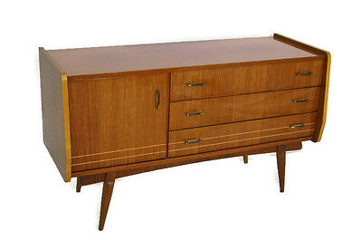 Mid Century Credenza or dresser high gloss two tone,Italian style retro