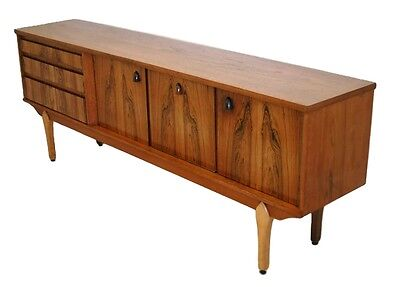 Mid Century Modern Rosewood And Teak Credenza, Media Console Or Storage Cabinet