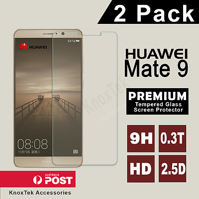 2X Scratch Resist Tempered Glass Screen Protector Film Guard for Huawei Mate 9