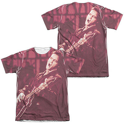 Elvis Presley the Guitar Man 1-Sided Sublimation Print Poly Tee Shirt S-3XL