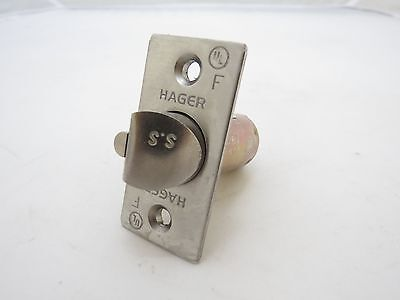 "Hager 2-3/4"" Deadlatch Satin Chrome Single Point Lock or Latch New w/ Plunger"