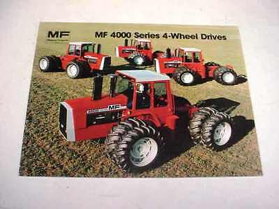 Massey Ferguson 4800, 4840, 4880, 4900 Articulated Farm Tractor Sales Brochure !