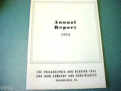 1954 Philadelphia & Reading Coal Corp. Annual Report (Nice Old Anthracite Item)