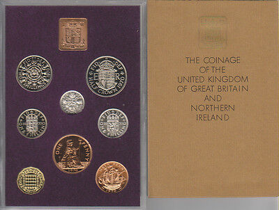 UK of Great Britian and Northern Ireland 1970, Coinage Proof Set #PS26 (g0896)