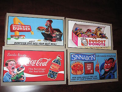 2015 Topps Wacky Packages Series 1 Set of 4 Box Toppers
