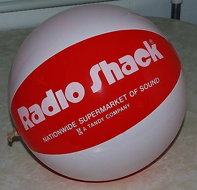 Vintage Radio Shack Promotional Beach Ball -Tandy Company - Supermarket of Sound