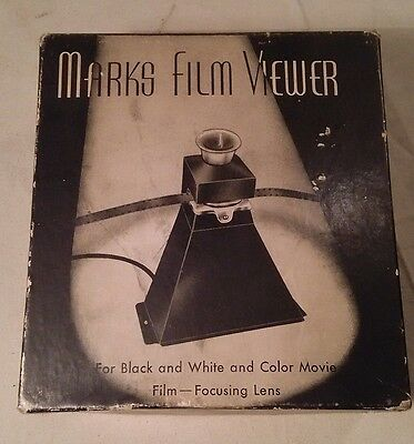 Vintage  * Marks 8MM Film Viewer * in Original Packaging * FREE SHIPPING! *