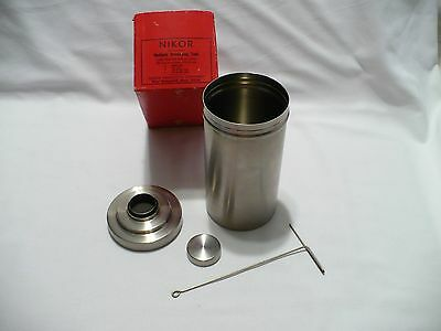 Vtg NIKOR Stainless Steel Multiple Developing Tank with Lifter in Original Box
