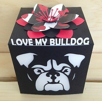 Love My Bulldog Gift Greeting Card Luminary