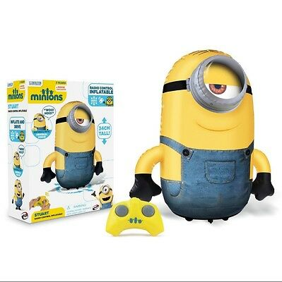 Despicable Me Inflatable REMOTE CONTROLLED STUART MINION NEW & BOXED 34CM TALL
