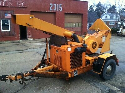 2010 Midsouth Drum Wood Chipper With 4 Cylinder Gas Engine
