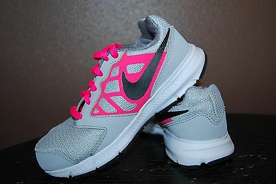 Nike Downshifter 6 Girls Athletic Shoes - Size 13.5 C - Gray & Pink