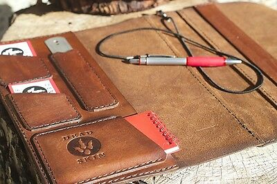LOG BOOK COVER- LEATHER -TRUCK DRIVERS MANUAL-  Logbook cover Southern oak hide