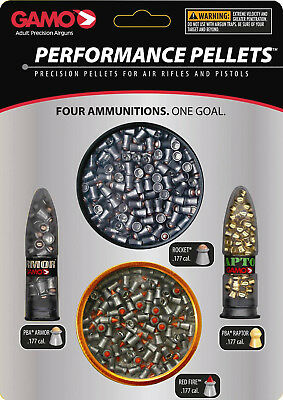 GAMO Performance Pellets Combo Pack .177 Cal-Multiple Styles-632092854