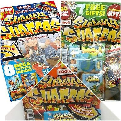 Subway Surfers Magazines Issues 1 to 3 - Rare - Brand New & Sealed