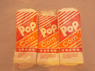 Gold Medal 1oz. 1000 Count Pop Corn Bags #3- 2053 Bright Orange Red White