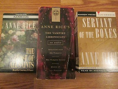 Lot of 3 Anne Rice audio books on tape