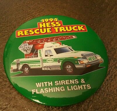 1994 Hess Rescue  Truck  Button.  New