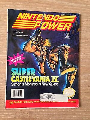 POSTER ATTACHED!!! Nintendo Power Magazine # 32 January 1992 SNES Video Game
