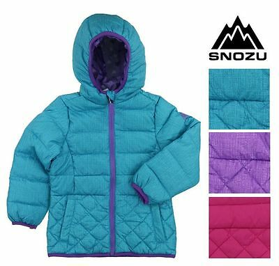 NEW GIRLS Toddler SNOZU FLEECE LINED DOWN JACKET ULTRA CLEAN WINTER COAT VARIETY
