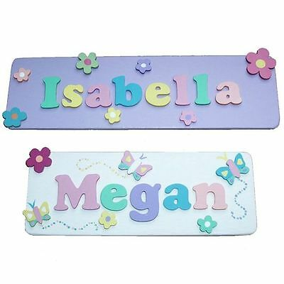 Children's Personalised Wooden Door Name Plaque For Girls