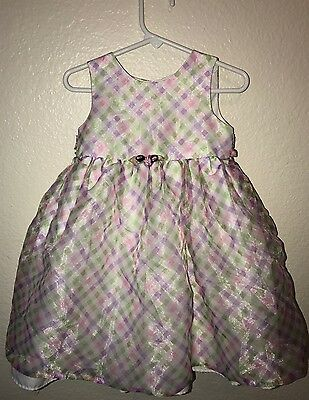 Marmellata Toddler Girl's 2T Easter Spring Pink Green White Purple Dress