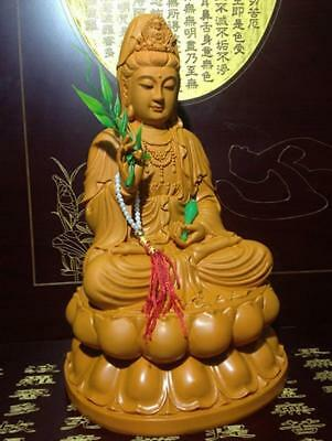 Goddess Kuan Yin Statue Good Lucky Wealth Sculpture Fengshui Guan Yin Buddha