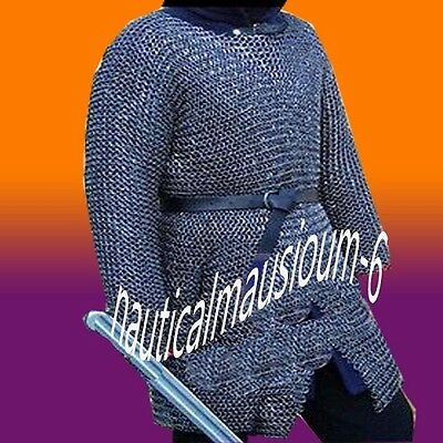Chainmail Round Rivet Hubergion Full Sleeve Medium Size Shirt