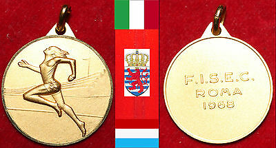 Leichtathletik Athletisme Medaille Luxemburg Betty Margue Ficep Rom Roma 1968