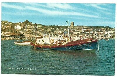 Vintage Postcard. The Lifeboat, Salcombe. Unused. Ref:73368