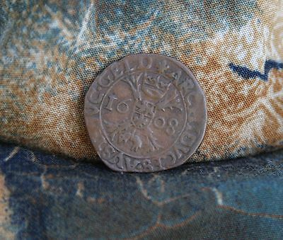 1608 Spanish Netherlands Liard  World Coin Albert & Isabella