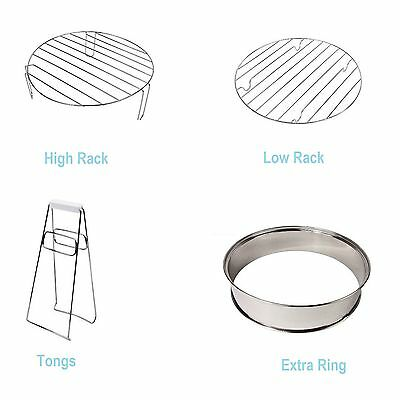 Halogen Oven Spares -,Extander Ring. High Rack, Low Rack & Tongs