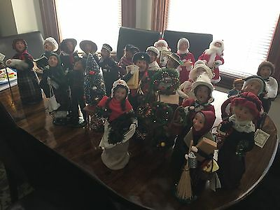 Lot of 23 Authentic Byers Choice Figurines Christmas Carolers + Accessories