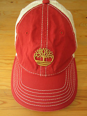 Baseball cap snapback Vintage Timberland red mesh back classic trucker hat