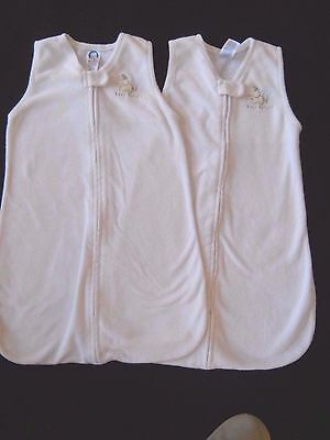 2 Gerber zip front  infant baby elephant sleep sack size 0 to 6 months