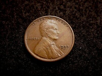 Very Nice 1923-S Semi-Key Date Fine/vf Circulated Lincoln Wheat Cent