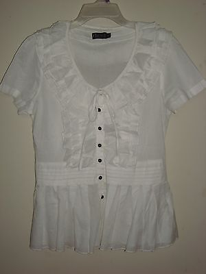 Wholesale Retail Joblot 24 Ladies Summer Shirts Tunics Tops Blouses White. Wi