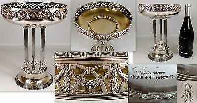 RARE Antique Gebr Friedlander No 9941 German 800 Silver HUGE Compote Fruit Bowl