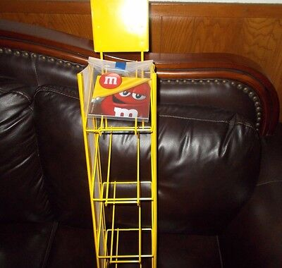 M&M Mars Collectors Store Rack Metal Display Shelf Rack 4 -Tier -  RARE  NEW !