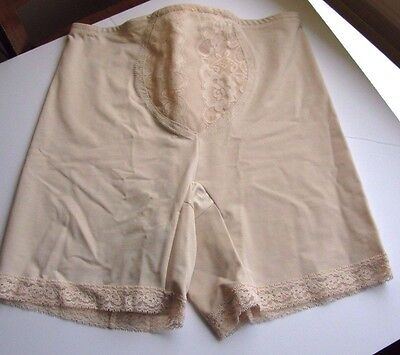 SUBTRACT Highwaist Slimming Vintage 2401 Lacy Long Leg Girdle Panties Lycra 38