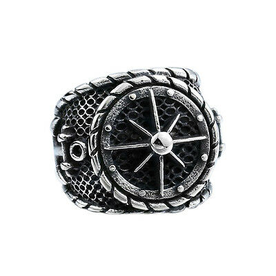 Anchor Sailor Compass Ring NEW Vintage Retro Silver Mens Women Stainless Steel