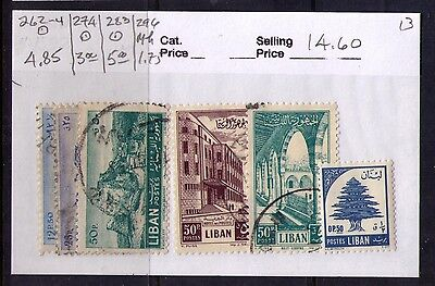 Lebanon,liban Stamps Sc# 262-4;274;283;296 Used/mh Cat.$14.6