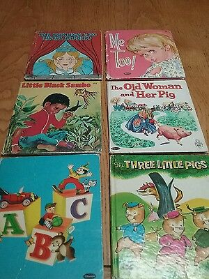 Lot of 6 Whitman Children Kids Tell A Tale Books