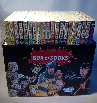 Horrible Histories Blood-Curdling Box of Books. 20 Book Box Set. Free Postage