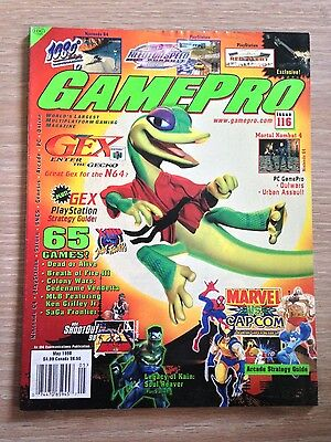 GREAT CONDITION!!! Gamepro Magazine #116 May 1998 GEX: Enter the Gecko