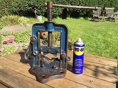 """Vintage Record Pipe Vice 94 1/2 made in England Up to 6"""" (IRWIN 96)"""